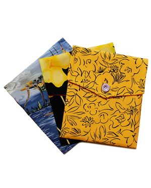 Island inspired iPad Covers made from Vintage Fabrics