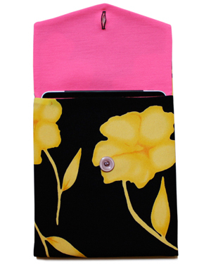 Yellow Poppy Vintage Polyester Crepe iPad Cover